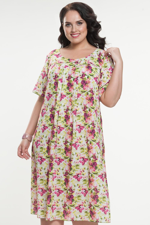 фото шифоновых платьев для полных на лето про